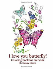 Adult Kids Coloring Book Painting Picture Pattern Beautiful Butterfly Art Relax