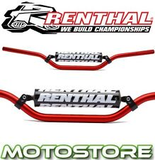 RENTHAL BRACED HANDLEBARS RED FITS HONDA CR125 2004-2009 BAR PAD