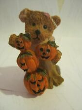Holloween Bear With Pumpkins Figurine, by K's Collection (005-3)