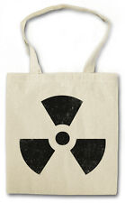 RADIOACTIVE SIGN COTTON BAG - Jutebeutel Stoffbeutel - Warning Schild Logo NEW