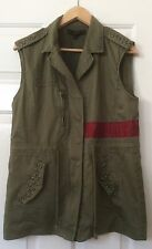 Juniors Forever 21 Military Inspired Army Green Embellished Cargo Vest Size M