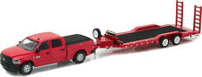 Greenlight Hitch & Tow 9 2016 Dodge Ram Pickup and Flatbed Trailer DAMAGED