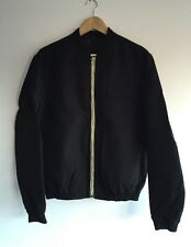 KRIS VAN ASSCHE BLACK COTTON TWILL BOMBER JACKET IT 50 - L RRP £525
