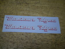 Vintage Western Flyer Bicycle Decal Set