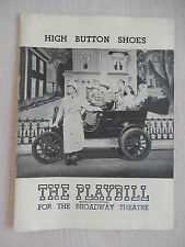 January 1949  - Broadway Theatre Playbill - High Button Shoes - Phil Silvers