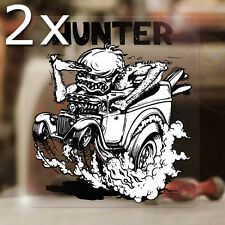 2x pieza Ed Roth Hunter sticker Consejo Fink Hot Rod autocollante pegatinas
