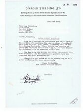 SYDNEY LEVINGTON   Signed Entertainment Contract   Opera House Blackpool  1973