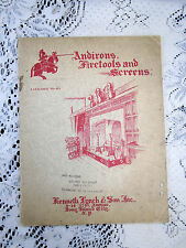 1930's Kenneth Lynch Andirons Fire Tools & Screens Hardware Catalog 40 NY USA