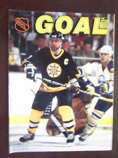 NHL Goal Magazine 1986 Ray Bourque on Cover Vintage Original VG/EX Condition