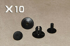 8mm ROVER BLACK Plastic Clips Rivets- Interior Trim Panels, Carpet & Linings