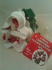 Acme 4 Piece Christmas Cookie Cutter Set - Tree, Bell, Snowman, Gingerbread Boy