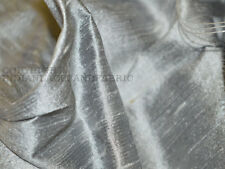 Pure Dupioni Silk raw silk fabric in Silver Grey dupioni silk