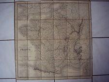 CARTE  DE  FRANCE  ,  BELGIQUE  et une partie de la  HOLLANDE  -  1835