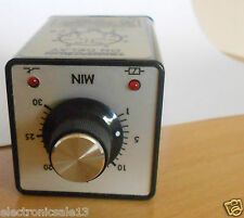 SINGLE TIME DELAY RELAY 1.5 TO 30MIN, DP-NO/NC, 2 CONTACTS DPDT, 240V AC