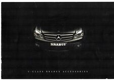 MERCEDES-BENZ CLASSE C BERLINA Brabus accessori 2007-08 UK Opuscolo Vendite sul mercato