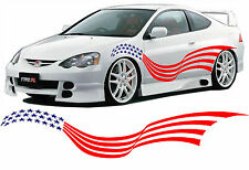 "VINYL GRAPHICS DECAL STICKER CAR BOAT AUTO TRUCK 80"" MT-250-Y AMERICAN FLAG"