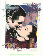 AFI 1989 Gallery Print GONE WITH THE WIND Movie Poster DENNIS MUKAI Artwork