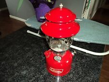 VINTAGE COLEMAN LANTERN RED MODEL 200A  10 1969  W/ ORIG BOX & PAPERWORK CAMP