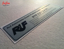 TIMING DECAL, RUF BTR 3.3 3.4 (1983 – 1993) porsche sticker alternator strap