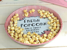 RETRO TREATS Fresh Popcorn ROUND TIN TRAY