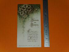 CHROMO 1900-1910 IMAGE PIEUSE CATHOLICISME HOLY CARD BEAUCOUP DE BONHEUR