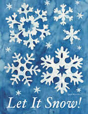 "Let It Snow! Winter House Flag Decorative Snowflakes Large Yard Banner 28"" x 40"""