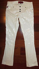 TRIPP NYC white PVS stretchy lightweight slim fit boot cut punk pants 7 NWOT