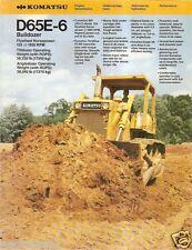 Equipment Brochure - Komatsu - D65E-6 - Bulldozer - Crawler Tractor (E1130)