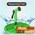TUBO ESTENSIBILE GIARDINO CANNA ACQUA MAGIC HOSE 22.5 M. + PISTOLA GIARDINAGGIO
