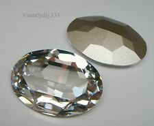 1x SWAROVSKI 4127 CLEAR CRYSTAL 30x22mm OVAL STONE (Foiled) CRYSTAL BEAD