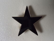 DAVID  BOWIE - BLACK STAR - LAPEL BADGE - ALL-IN-ONE PIN - ENAMEL - ART ROCK