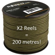 MILITARY PARA CORD 100 METRES X2 BRITISH ARMY HIGH QUALITY BASHA TENT BIVVI ROPE