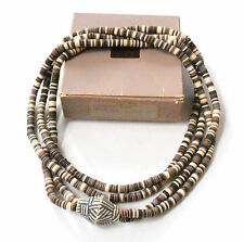 BEAUTIFUL VINTAGE AVON SIROCCO ROPE NECKLACE 2-STRAND IN TAUPE TONES NOS 1988
