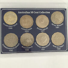 1966 TO 1994 AUSTRALIAN 50c UNC 8 COIN COLLECTION SET