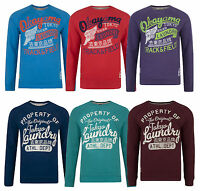 Tokyo Laundry New Men's Printed Crew Neck Sweatshirt Casual Top