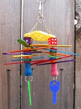 The Radio Flyer Parrot Bird Chew Toy Colorful Play Fun Keys Pet Popsicle Sticks