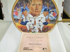 "Mickey Mantle Artist Proof  Sports Impressions 10"" Plate W/COA  #240 out of 240"