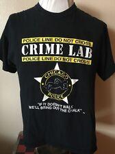 Vintage Chicago Police Crime Lab T Shirt Men's Large - We'll Bring Out The Chalk