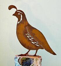 Rusty Metal Male California Quail  Bird Silhouette Accent for Inside or Out