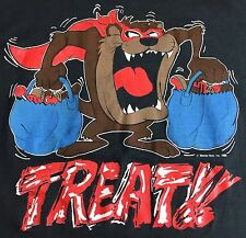 True Vintage 1986 Halloween Candy Trick or Treat Taz Tasmanian Devil T-Shirt L