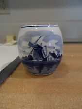 "Vintage  Blue & White 2 1/4"" Vase/Pen Holder - Delft- Holland"