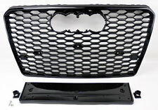 Audi A7 S7 2012-2015 RS Style Gloss Black Mesh Front Hood Bumper Grill