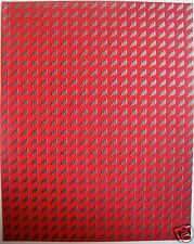 RED LIGHTNING BOLTS Perforated Blotter Art 25 x 20 = 500 hits LSD Acid New/Mint
