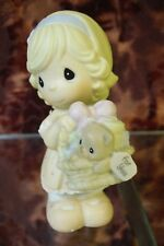 "Precious Moments-#0000382 ""Give With A Grateful Heart"" -Girl w/Teddy Bear - NEW"