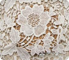 1 Yard Of Victorian Bridal Wedding Dress Floral White Lace Fabric 002