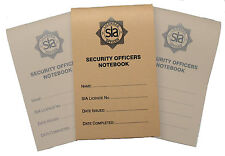Security Officer Notebook