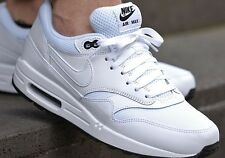 Nike Air Max 1 Essential Leather PRM White Black Size 10 Mens Shoes (537383-125)