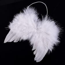 Pure White Infant Newborn Fancy Baby Boy Girl Fairy Feather Chic Angel Wings G61