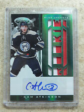 11-12 Panini Certified Rookie Emerald Green Auto RC Jersey CAM ATKINSON /5