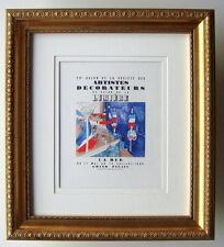 """Raoul DUFY Antique Exhibition Poster """"Annual Decorators Show"""" Framed SIGNED COA"""